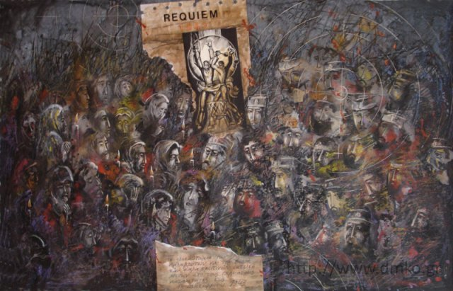 """The Kalavrytan Holocaust."" By painter Ioannis Kyriakidis."