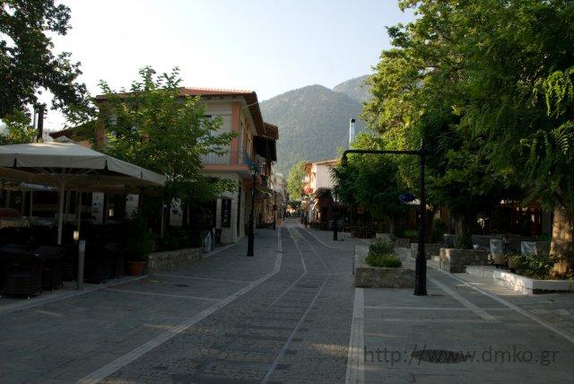 Pedestrian area – The market of Kalavrita
