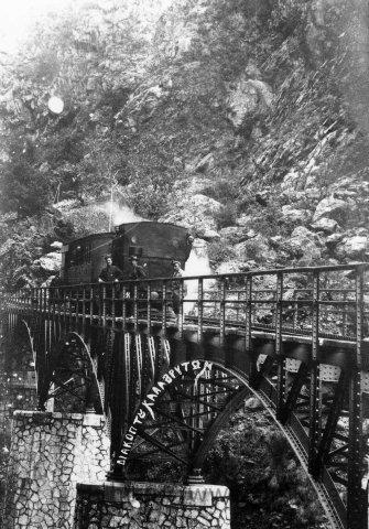 "The cog-railway train ""Moutzouris"""